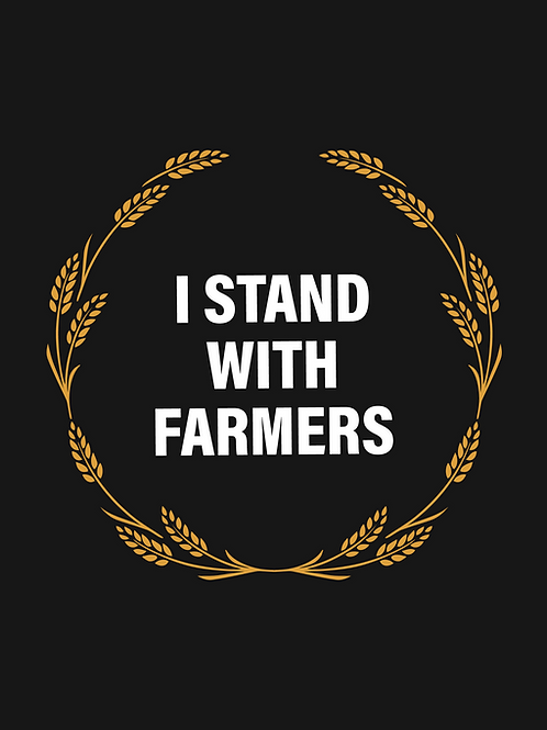 I Stand with Farmers Poster