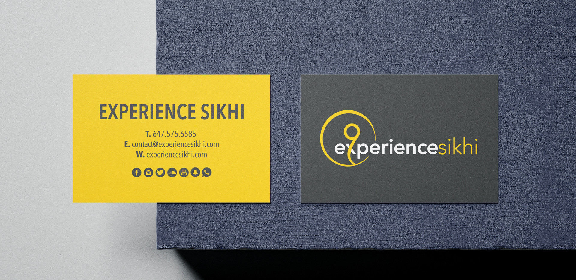 Experience Sikhi Business Cards