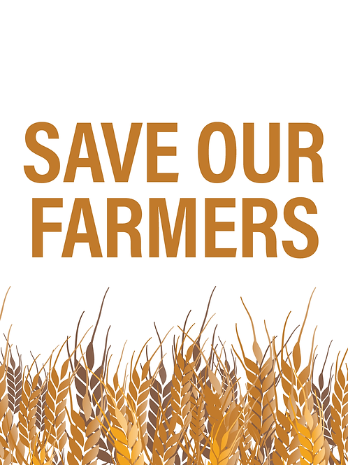 Save our Farmers Poster