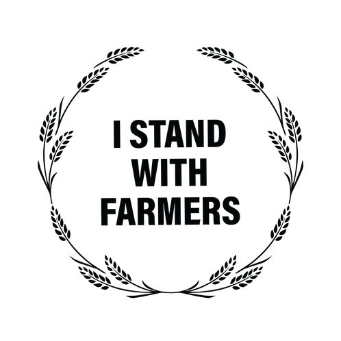 I Stand with Farmers Sticker