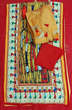 Silk top designer duppata and bottom