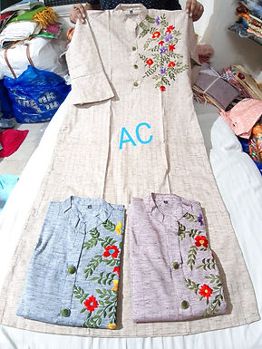 Long embroidery top