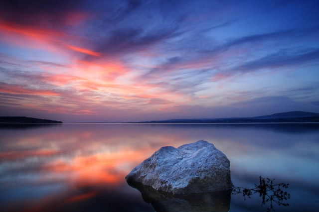 Stone in the Lake Photo