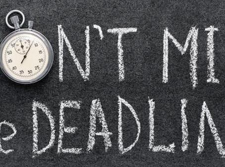Deadline Fast Approaching!