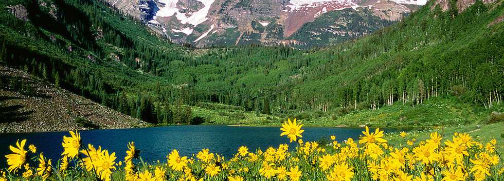 Maroon Bells in Summer, CO