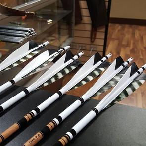 Beautiful set of custom arrows Levi made