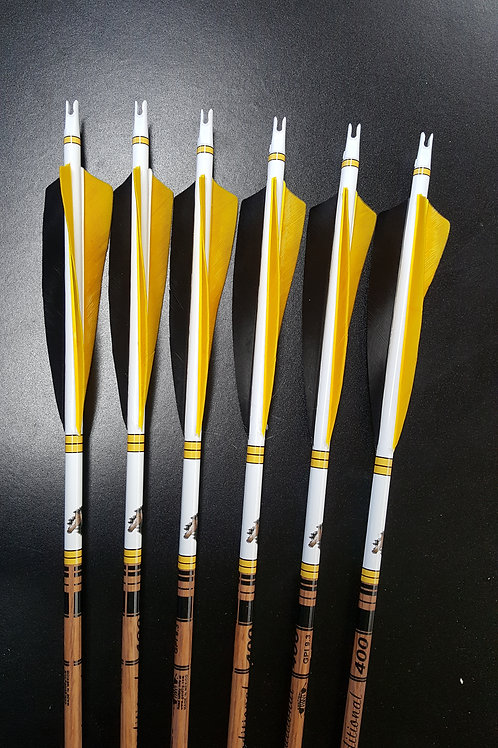 1/2 Dz Left Wing Fletched Goldtip Traditional Arrows