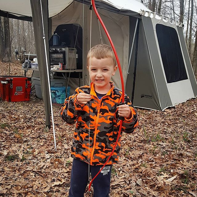 He got his first _timberhawk_ this week