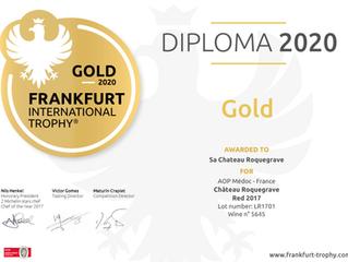 Une médaille d'Or pour le millésime 2017