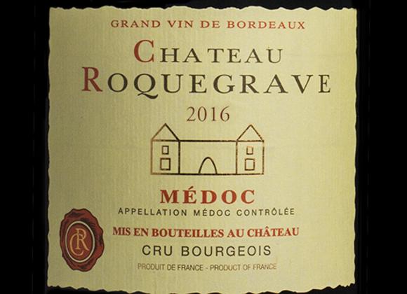 Ch. Roquegrave 2016 - carton de 6 x 75 cl