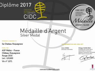 Avril 2017 : Concours International des Cabernets 2016