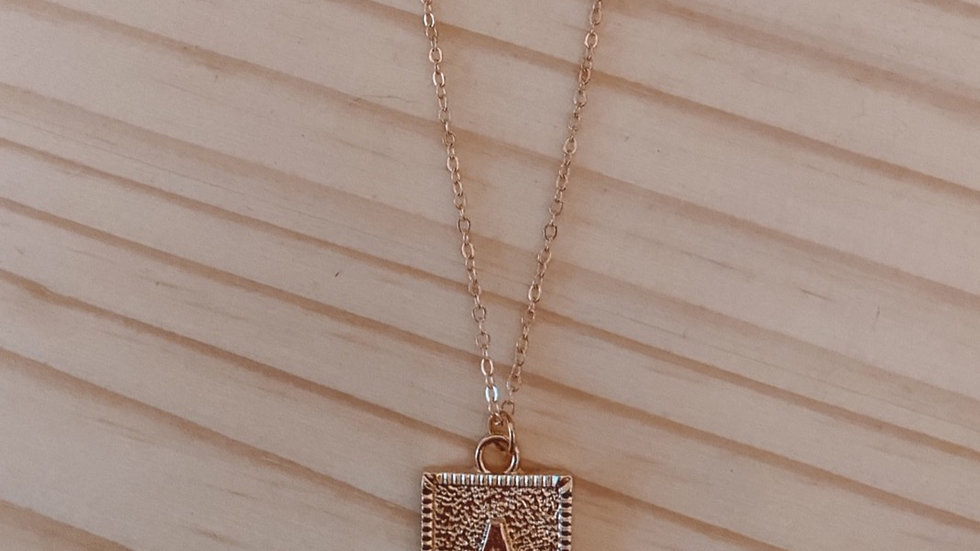"""""""A"""" Double Chain Necklace"""