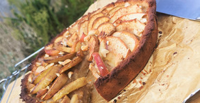Plant based apple and cashew tart