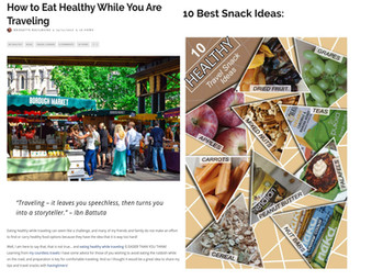 Eat Healthy while traveling tips and snacks ideas