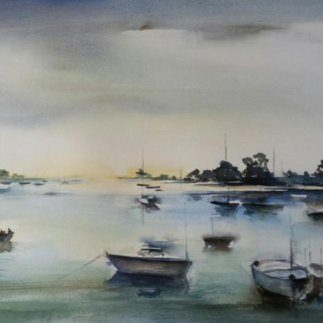 Le vieux port 56 x 38 cm