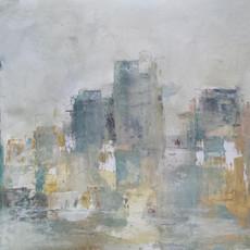 Brume sur la ville  65 x 50 cm