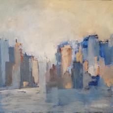 La ville bleue 100 x 73 cm