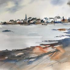Village breton 38 x 28 cm