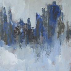 Les tours bleues 60 x 65 cm