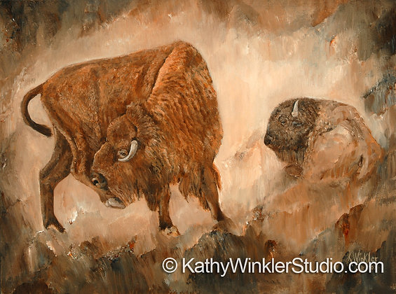 """Got An Itch"" Bison Giclée"
