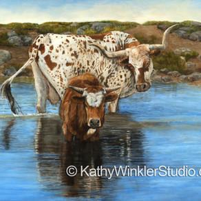 "The Inspiration Behind Kathy Winkler's ""An Old Fashioned Longhorn Bath"""