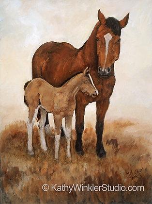 """""""Prim and Proper 2"""" Horses Giclée"""