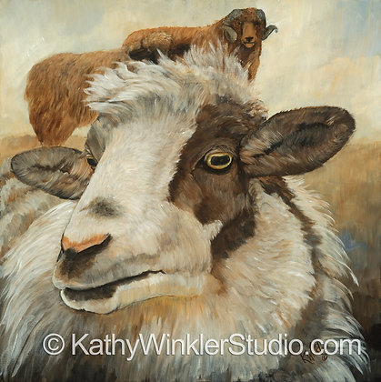 """Another Ewe!"" Ewe, Giclée"