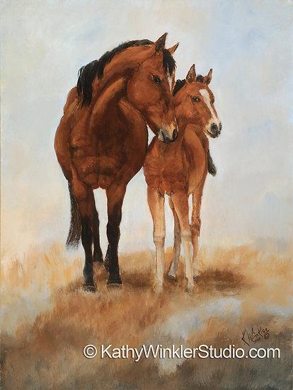 """""""Prim and Proper 1"""" Horses, Giclée"""