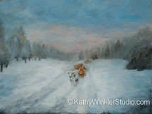 """Long Road Home"" Longhorn Cattle"