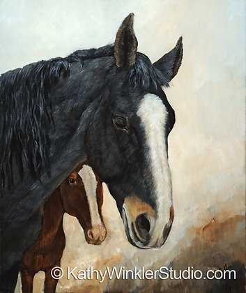 """Horse of a Different Color"" Horses, Giclée"