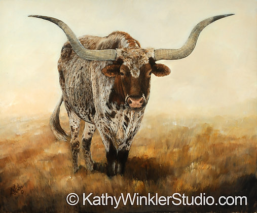 """Don't Fence Me In"" Texas Longhorn Steer Giclée"
