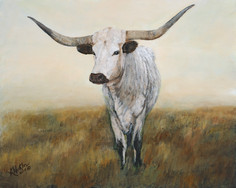 """Knight in White Satin 2"" Texas Longhorn"