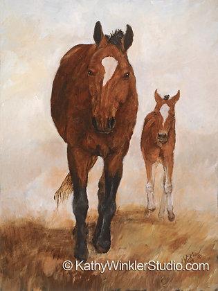 """""""Isn't She Lovely 2""""  Horses, Giclée"""