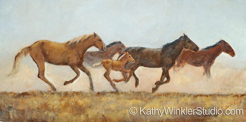 """""""Keepin' Up"""" Horses,   Giclée"""