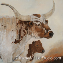 """""""Because You're Mine 1"""" Longhorn Cow"""