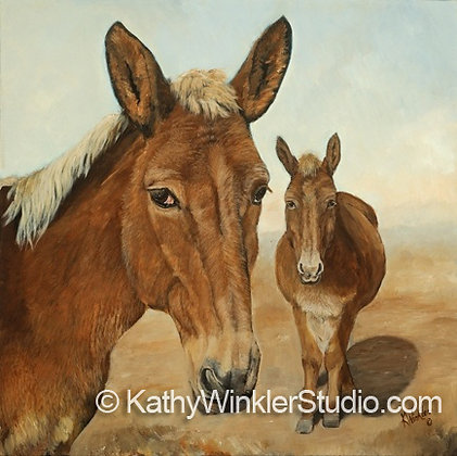 """You Are My Best Friend"" Mules, Giclée"