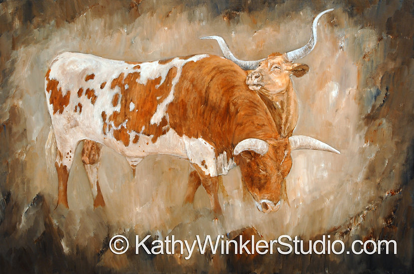 """""""It Had to Be You"""" Texas Longhorn Giclée"""
