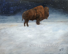 """Journey Through the Snow 1"" Bison Bull"