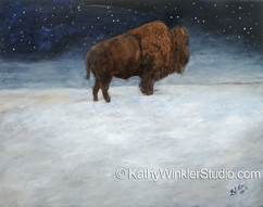 """""""Journey Through the Snow 1"""" Bison Bull"""