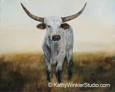 """Knight in White Satin 1"" Texas Longhorn"
