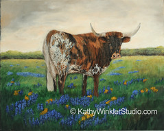 """""""My Flowers 1 - Get Your Own"""" Texas Longhorn"""