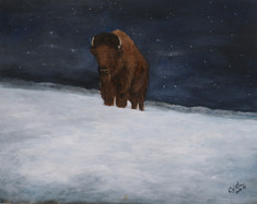 """Journey Through the Snow 2"" Bison Bull"