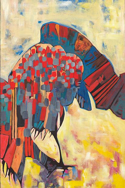 REPAUS - Framed Giclée on canvas, 91x55cm