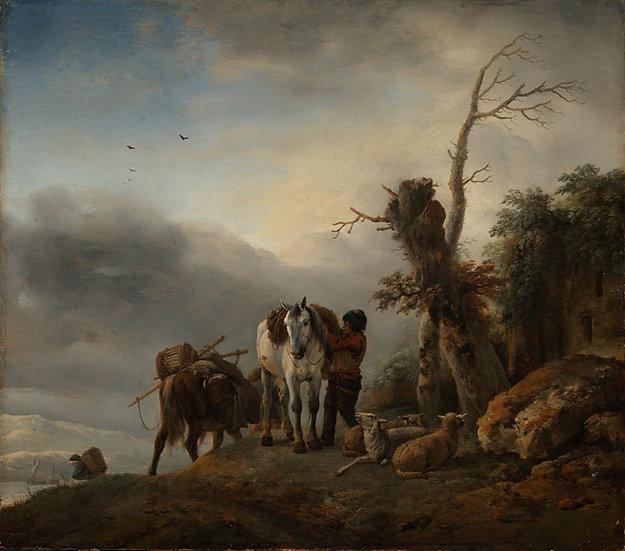 Peisaj cu Cai de Povara - Philips Wouwerman