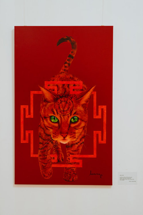 KALI's CAT- Giclée on canvas,  121,60 X 75,20cm