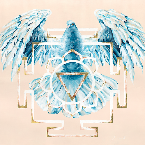 TARA's WINGS - Giclée on canvas,  100x100cm