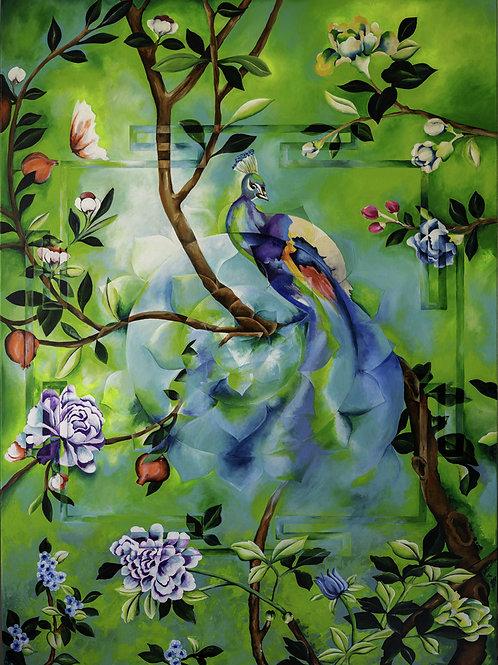 MATANGI's GARDEN - Giclée on canvas,  140x100cm