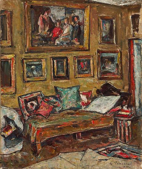 Interior in Atelierul Artistului - Gheorghe Petrascu