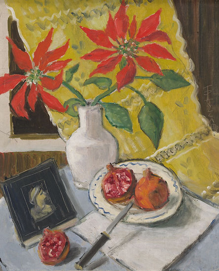 Natura Statica cu Flori Rosii - Theodor Pallady