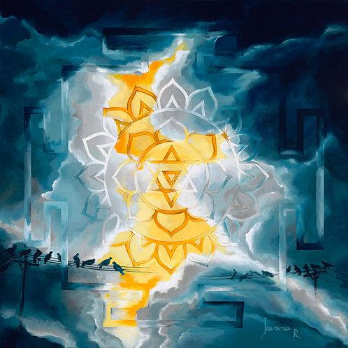 BAGALAMUKHI's LIGHT- Giclée on canvas,  50x50cm
